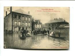 CP - WARCQ (08) CRUE DE LA MEUSE PLACE DE LA MAIRIE LE 28.02.1910 - Other Municipalities