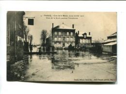 CP - WARCQ (08) CRUE DE LA MEUSE PLACE DE LA MAIRIE PENDANT L INONDATION LES 23 25 JANVIER 1910 - France