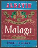 "Albania, ""Malaga"", Wine Label. - Etiketten"