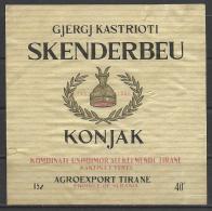 "Albania, ""Skenderbeu Konjak"", Brandy Label. - Ohne Zuordnung"