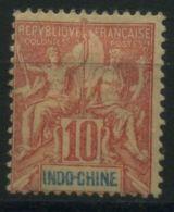 INDOCHINE ( POSTE ) : Y&T N°  18  TIMBRE  NEUF  AVEC  TRACE  DE  CHARNIERE  , A  VOIR . - Neufs