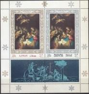 PINTURA - AJMAN-MANAMA 1968 - Michel #H353+133A - MNH ** - Arte
