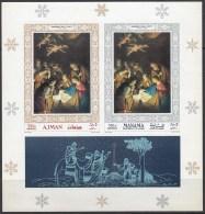 PINTURA - AJMAN-MANAMA 1968 - Michel #H353+133B - MNH ** - Arte