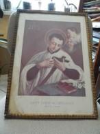 Cadre Religieux - Saint Louis De Gonzague  -  Trace D'humidité - A Voir - Religion & Esotérisme