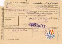 18464. Resguardo Mercancias, AVILES (Asturias) 1940. Guerra Civil Viñeta. LINEAL Ferrocarril - Télégraphe