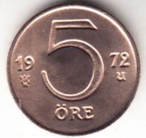 SUECIA  1972  CARL  VI  GUSTAF    5 ÖRE.COBRE.    EBC EXTREMELY FINE    CN7006 - Suecia