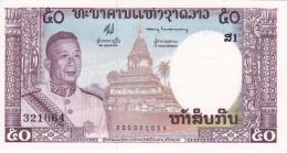 BILLETE DE LAOS DE 50 KIP DEL AÑO 1963 (BANKNOTE) SIN CIRCULAR-UNCIRCULATED - Laos