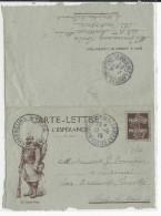 """1915 - CARTE-LETTRE FM ILLUSTREE """"UN BRAVE POILU"""" Du 14° CHASSEURS ALPINS à MONESTIER De CLERMONT (ISERE) - Marcophilie (Lettres)"""