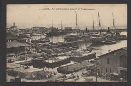 DF / ALGERIE / ALGER / PORT ET DÉBARCADÈRE DE LA COMPAGNIE GENERALE TRANSATLANTIQUE - Algiers