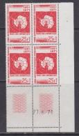 TAAF 1971 Antarctic Treaty 1v Bl Of 4  (corner, Printing Date) ** Mnh (30599A) - Neufs