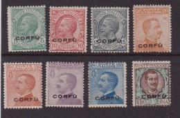 1923 OCC. MILITARE ITALIANA CORFù LING. MH ( SASS.1-8 ) CAT. € 85,00 - 8. Besetzung 1. WK