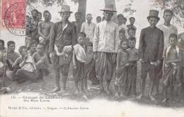 Asie - Laos - Bas Laos - Groupe De Laotiens - 1905 Cachet Saigon Constantine - Laos
