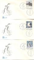 FAUNA ANTARTICA ANTARTIDE LOTE DE 9 SOBRES DIFERENTES AÑO 1980 L'ARGENTINE FDC PREMIER JOUR D'EMISSION BUSTA PRIMO GIORN - Postzegels