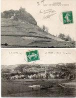 SEGUR LES VILLAS - 2 CPA - Vue Générale - Rglise De VALENTINE   (88696) - Autres Communes