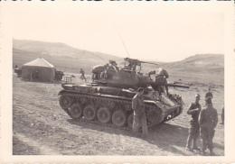 PHOTOGRAPHIE.  PHOTOS MILITAIRES D ALGERIE  BATNA CAMP DE LAMBRIDI  CHARS - War, Military