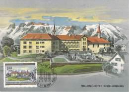 C   1985   Michel # 869   Frauenkloster Schellenberg - Cartas Máxima