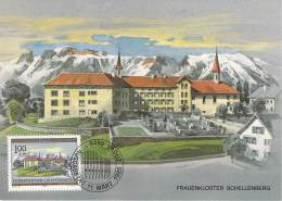C   1985   Michel # 869   Frauenkloster Schellenberg - Cartes-Maximum (CM)