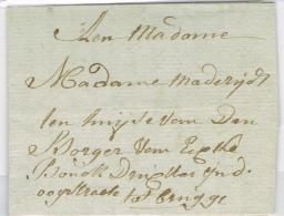 BR 1253 BRIEF BRUGGE 6-1-1799 ZIE SCAN - 1794-1814 (Periodo Frances)