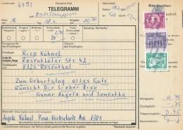 PIRNA - TELEGRAMM Nach Rosenthal  - Big Letter, Dispatch = 4,20 EURO - [6] République Démocratique