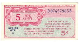 5 Cent Military Payment Certificate Series 471 - FDS UNC - Military Payment Certificates (1946-1973)
