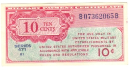 10 Cent Military Payment Certificate Series 471 - FDS UNC - Military Payment Certificates (1946-1973)