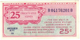 25 Cent Military Payment Certificate Series 471 - QFDS - Military Payment Certificates (1946-1973)