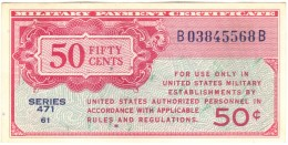 50 Cent Military Payment Certificate Series 471 - FDS UNC - Military Payment Certificates (1946-1973)