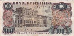 AUTRICHE - BILLET DE 100 SCHILLING -  1960 - Autriche