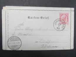 GANZSACHE Kartenbrief Johannisbad - Landeshut 1898  / D*20749 - Lettres & Documents