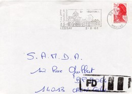 1988 - Fausse Direction - Annulation De L´indexation Griffe Manuelle - Timbre N°2427 De Carnet - Marcophilie (Lettres)
