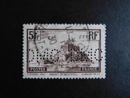 FRANCE N° 260 1929 DMC 84 Perforé Perforés Perfins Perfin Oblitéré Double Perfo Complete - Perfins