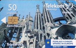 SLOVENIA SLOVENIJA PHONECARD 2004 ŠPANIJA SPAIN  POMLAD V EVROPI SPRING IN EUROPE TELEKOM CAT.NO. 569 - Slovenia