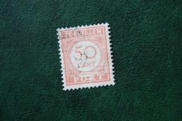Port Postage Due 50 Ct NVPH P36 1913-1940 Gestempeld / Used NEDERLAND INDIE / DUTCH INDIES - India Holandeses