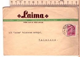 "Latvia Lettland LAIMA Advertising Cover 1938 Cancel RIGA ""L"" - Lettonie"