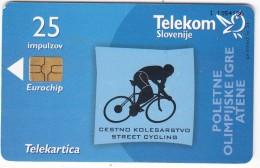 SLOVENIA SLOVENIJA PHONECARD 2004 CESTNO KOLESARSTVO STREET CYCLING POI ATENE SOG ATHENS TELEKOM CAT.NO. 603 - Slovénie