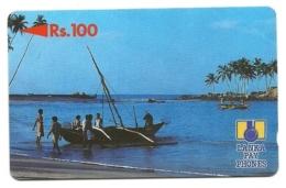 Sri Lanka - Tessera Telefonica Da 100 Rupie T99, - Barche