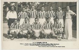 Equipe Football A.S. Cannes 1937/38 Team Vandini Mori Kovacs Cornilli Trimbot Andoire Hillier ( Entraineur ) Suite - Football