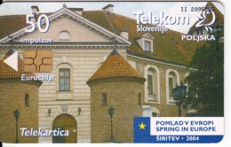 SLOVENIA SLOVENIJA PHONECARD 2004 POLJSKA POLAND POMLAD V EVROPI SPRING IN EUROPE TELEKOM CAT.NO. 595 - Slovenia