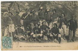 609 A La Frontire Franco Italienne Bersagliers Et Chasseurs Alpins Douaniers Customs - Douane