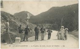 12 Le Mont Genevre La Frontiere , Coté Italie Descente Sur Clavieres Douanes Customs Cachet Hopital Temporaire Guerre 14 - Douane