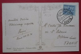 -- POSTE VATICANE N° 29 Y&T - POSTE CITTA ' Del VATICANO  23 Sep 1931 - SUR CARTE POSTALE -- - Lettres & Documents