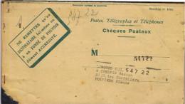 CARNET DE CHEQUES  POSTAUX  22 PIECES - Billetes De Transporte