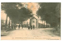 11981 Cpa   COULONGES Sur L´ AUTIZE : Route Neuve Er Avenue De La Gare  !1910   ACHAT DIRECT !! - Coulonges-sur-l'Autize