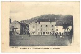 Cpa Meyrueis - L'école De Garçons Au Pré Nouveau - Meyrueis
