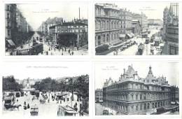 4 CPa Lyon : Palais De La Bourse, Place Perrache, Guillotière, Tramways ... - Lyon