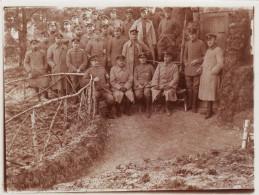 Photo 1914 Officiers Allemands Du IR 68 (A149, Ww1, Wk 1) - Guerre 1914-18
