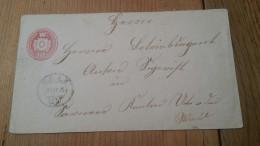 1875 10 Rp Tüblibrief Von Cham AK Luzern Und Sarnen - Stamped Stationery