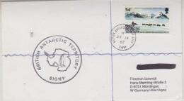 British Antarctic Territory 1987 Signy  Cover Ca 28 Ja 87 Signy (30610) - Brits Antarctisch Territorium  (BAT)