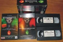 Cassette Vidéo Coffret Wishmaster 1 + 2 - Horror