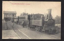 CPA 59 Villers Sire Nicole La Gare Et Le Train Tramway - France